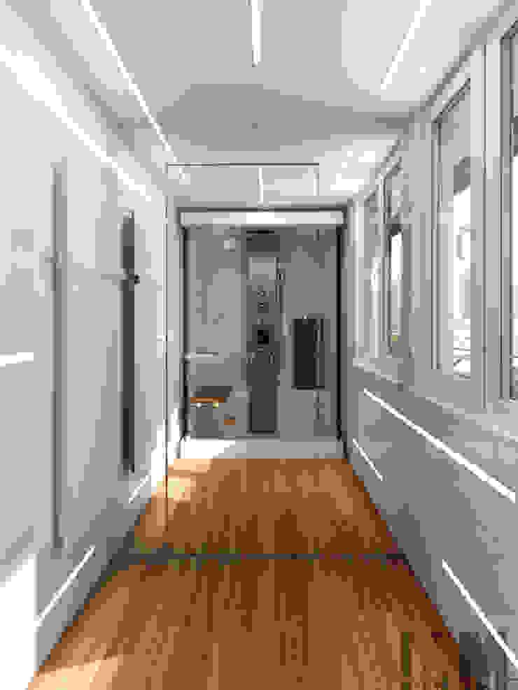 Чёрная лента Ванная комната в стиле минимализм от ММ-design Минимализм