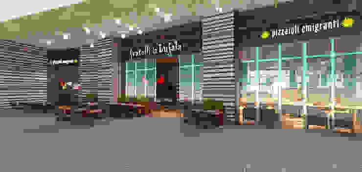 Fratelli la bufala – The Beach Mall, JBR, Dubai, UAE. Dubai di Conforti Tina Designer Eclettico
