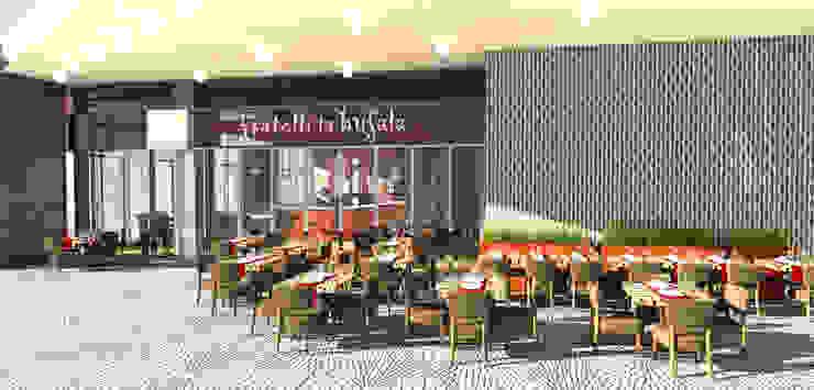 Fratelli la bufala - The Beach Mall, JBR, Dubai, UAE. Dubai di Conforti Tina Designer Eclettico