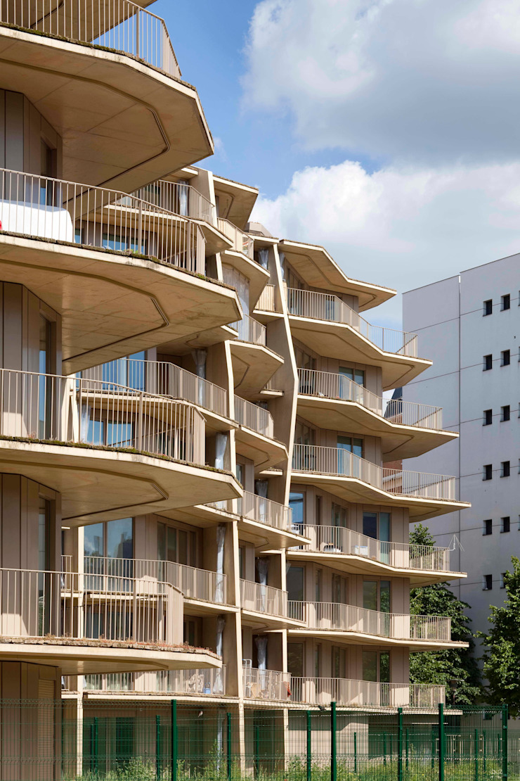 Hérold - 100 logements sociaux // Paris Maisons par Jakob+MacFarlane
