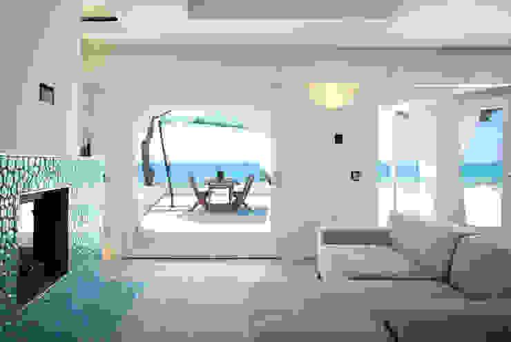 Mediterrane Wohnzimmer von DEFPOINT STUDIO architettura & interni Mediterran