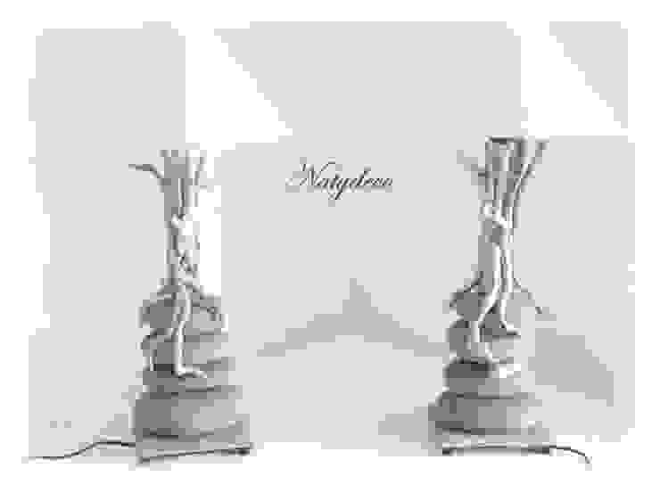 lampe galet et bois flotté par Natydeco Éclectique