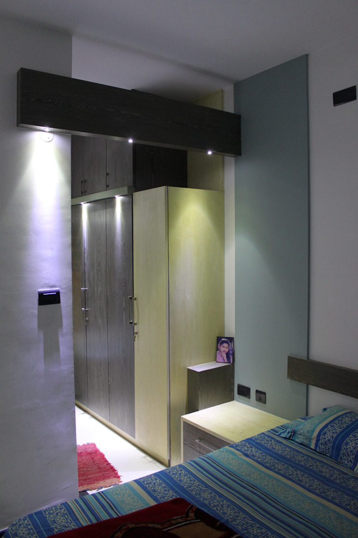 Bedroom Modern houses by Ashwin Architects Modern