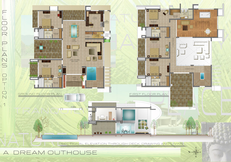 A DREAM OUTHOUSE Modern houses by FORM SPACE N DESIGN ARCHITECTS Modern