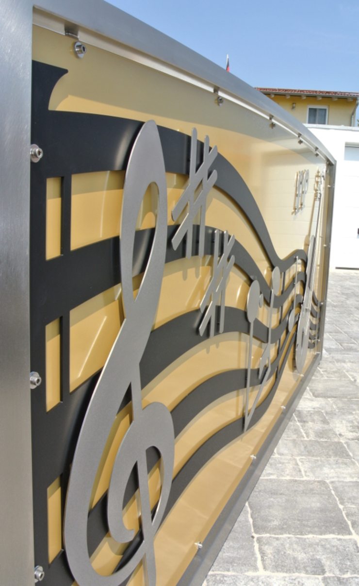 Stainless Steel Entrance Gates with Class. by Edelstahl Atelier Crouse: Сучасний