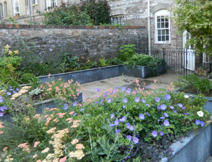 a courtyard garden in clifton: classic  by Alex Johnson landscape , Classic