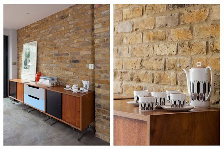Retro Style Dining Space Eclectic style kitchen by Casey & Fox Ltd Eclectic