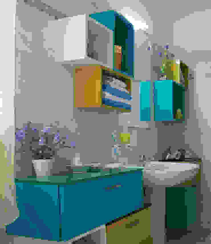 Cubic Bathroom Bagno eclettico di Arreda Progetta di Alice Bambini Eclettico