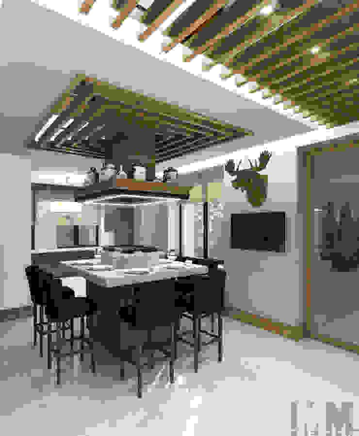 Загородный дом в стиле шале Кухня в колониальном стиле от ММ-design Колониальный