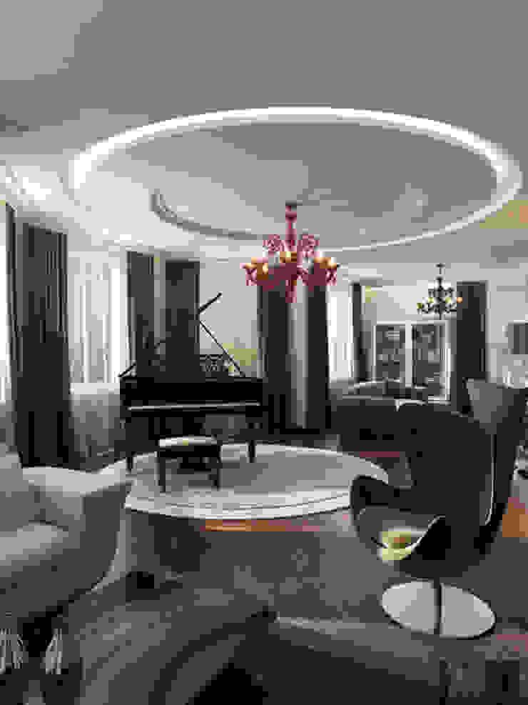 Изысканная неоклассика Гостиная в классическом стиле от ММ-design Классический
