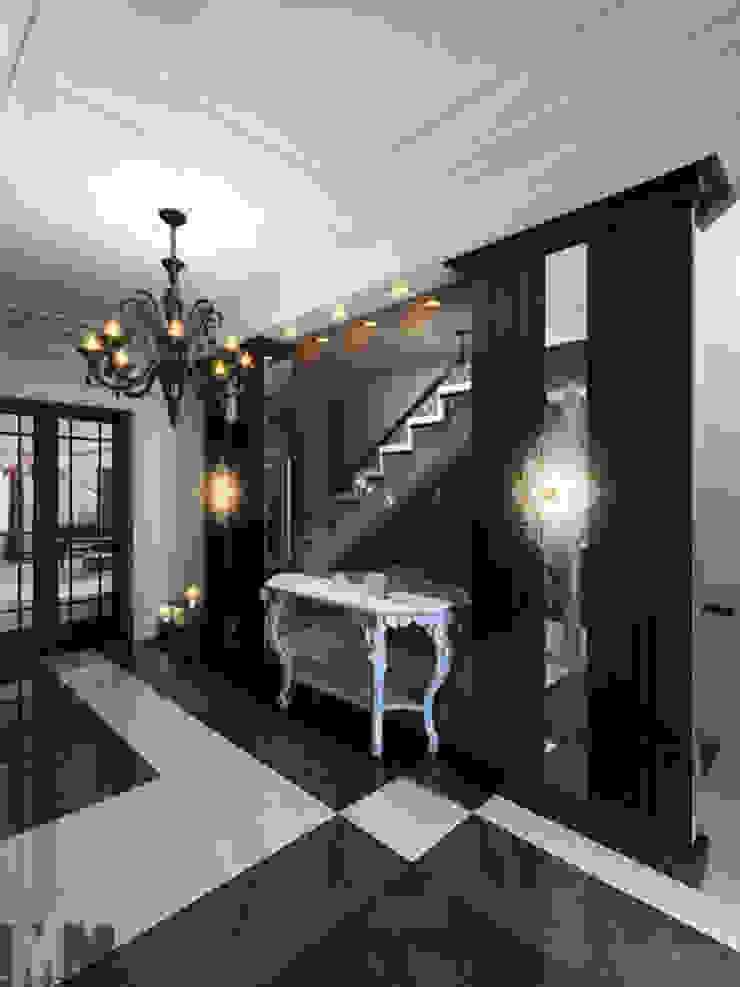 Изысканная неоклассика Коридор, прихожая и лестница в классическом стиле от ММ-design Классический