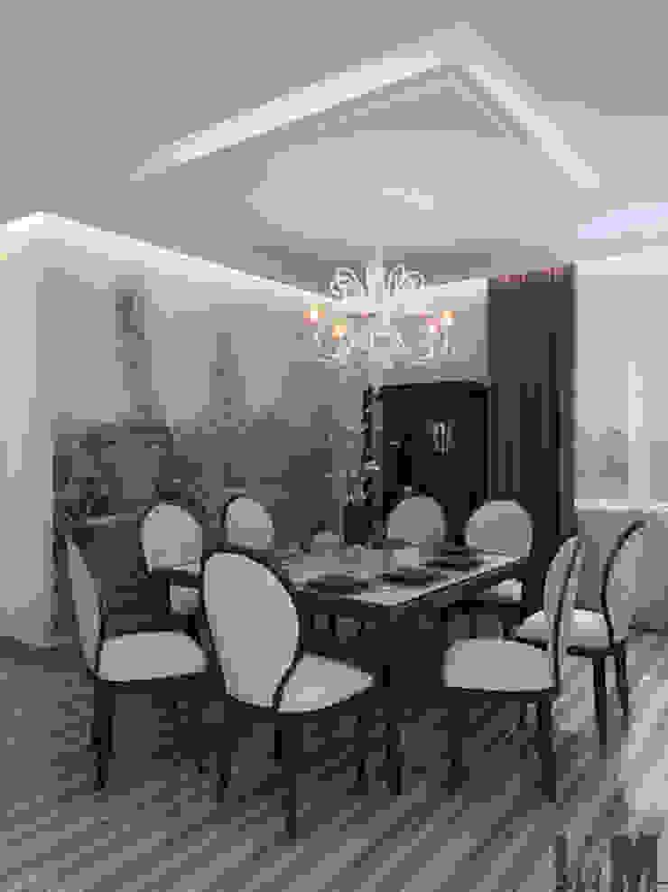 Изысканная неоклассика Столовая комната в классическом стиле от ММ-design Классический