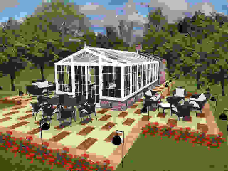Jardines de invierno modernos de CO Mimarlık Dekorasyon İnşaat ve Dış Tic. Ltd. Şti. Moderno
