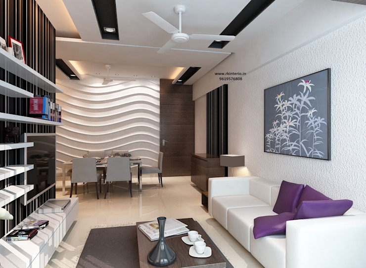 Ekta World, Borivali RK Design Studio Living room