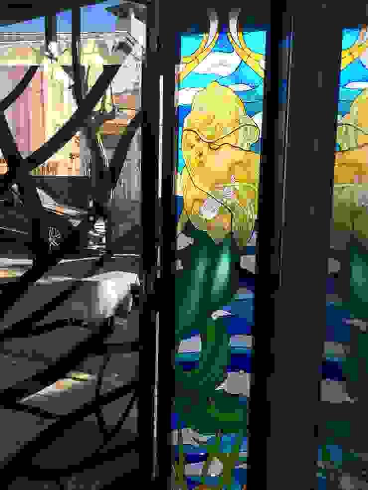 balık resteorant giriş kapısı berkart vitray Akdeniz
