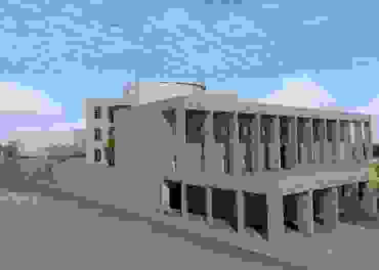 "efficient energy buildings ""una biblioteca per catania"" di Archisolving, soluzioni d'architettura NZEB Minimalista"