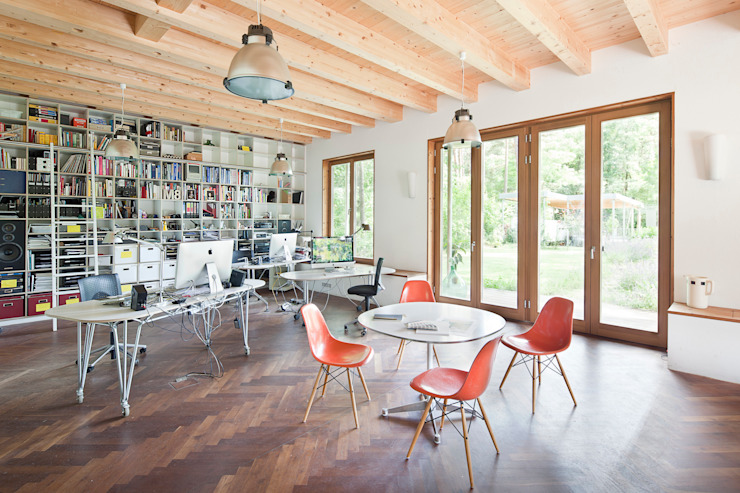Rustic style study/office by homify Rustic