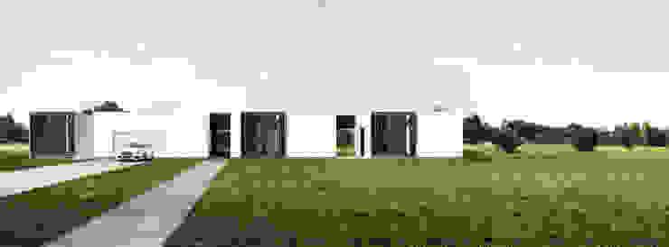 dom horyzontalny Minimalistyczne domy od Libido Architekci Minimalistyczny