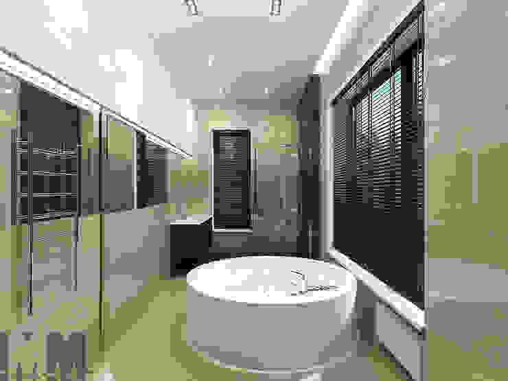 Коттедж в пос. Никольские озера Ванная комната в стиле минимализм от ММ-design Минимализм