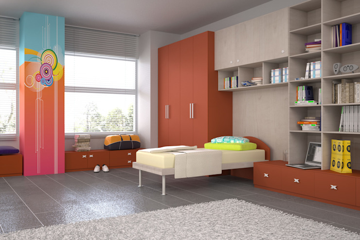 Dormitorios infantiles de estilo moderno de Renderburo Moderno