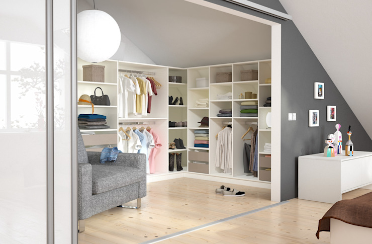 Dressing room by homify, Modern Wood Wood effect