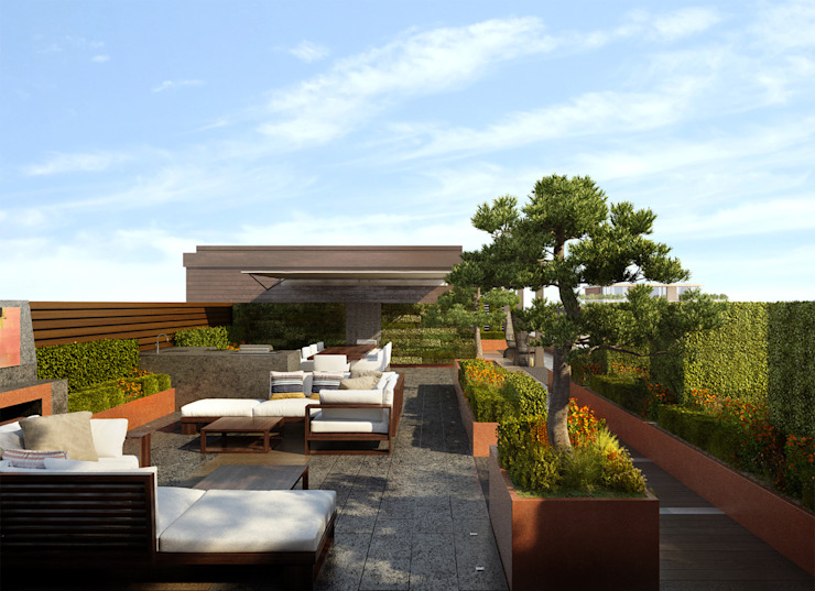 Chelsea Creek - copyright St George Plc Jardins modernos por Aralia Moderno Ferro/Aço