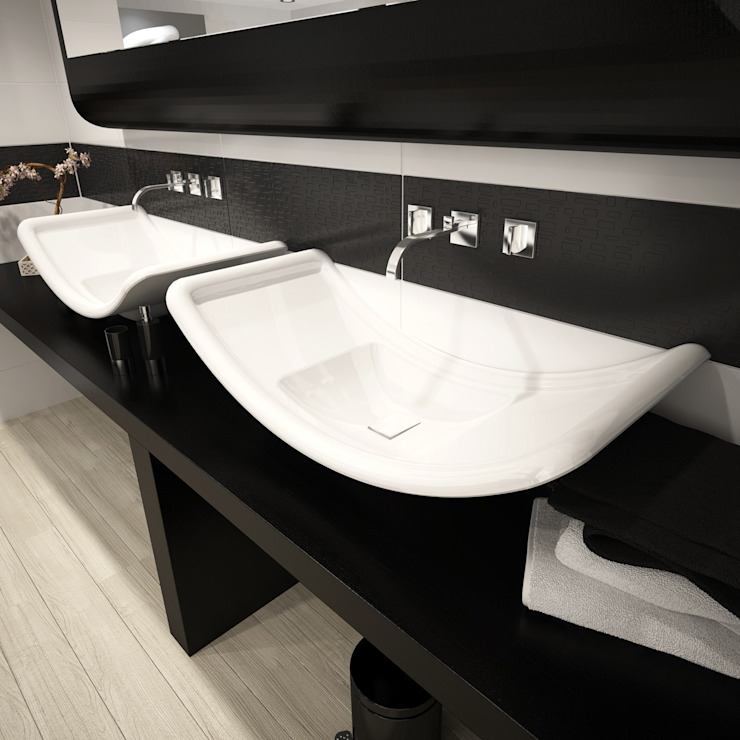 Lavabo S di DiciannoveDieciDesign Moderno Ceramica