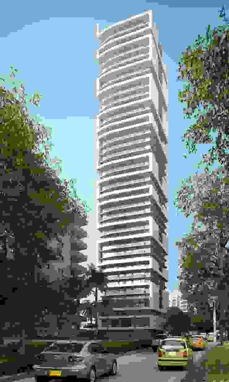 Render torre residencial Barranquilla Casas de estilo moderno de Berga&Gonzalez - arquitectura y render Moderno