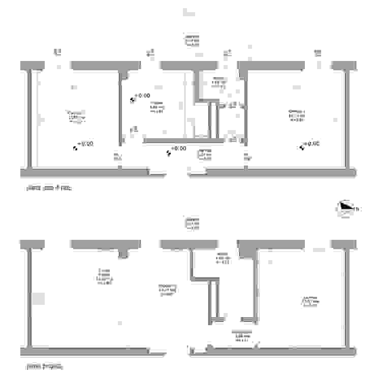 Planimetrie Case in stile minimalista di BRENSO Architecture & Design Minimalista