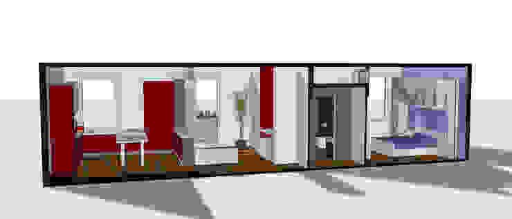 Sezione progettuale 3D Case in stile minimalista di BRENSO Architecture & Design Minimalista