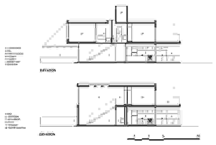 CASAS ADOSADAS Estudio A+3 Casas modernas: Ideas, imágenes y decoración