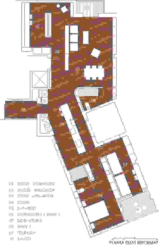 Estado reformado Casas de estilo moderno de DMP arquitectura Moderno