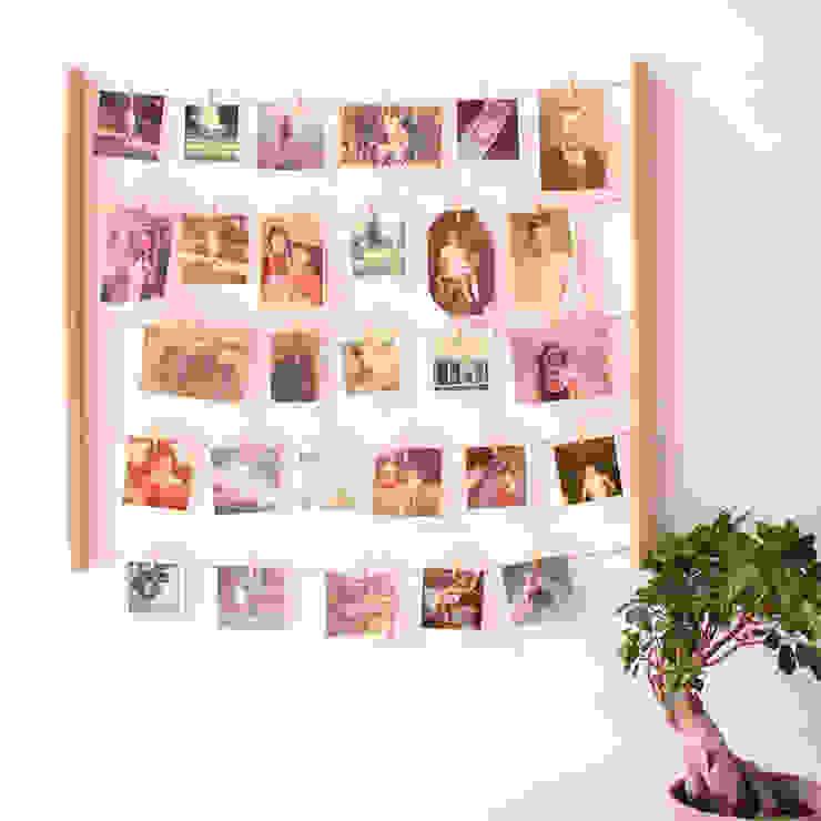 Панно с зажимами для 40 фотографий Hangit дерево от Enjoyme Минимализм