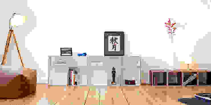 Klassisch aufgeräumtes Wohnzimmer Moderne Wohnzimmer von bSquary Designs Modern
