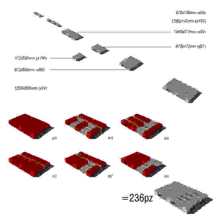 Pallets concept di BRENSO Architecture & Design Eclettico