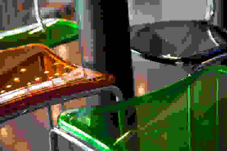 Dettaglio sedute Gastronomia in stile eclettico di BRENSO Architecture & Design Eclettico