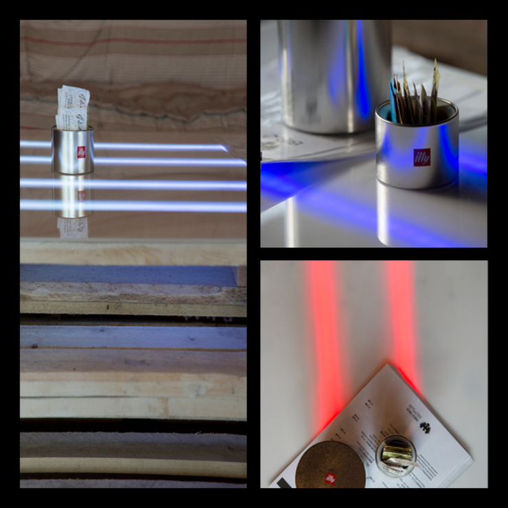Led and pallets detail Gastronomie originale par BRENSO Architecture & Design Éclectique