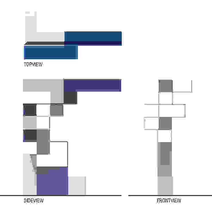 Pianta e prospetti di BRENSO Architecture & Design Moderno