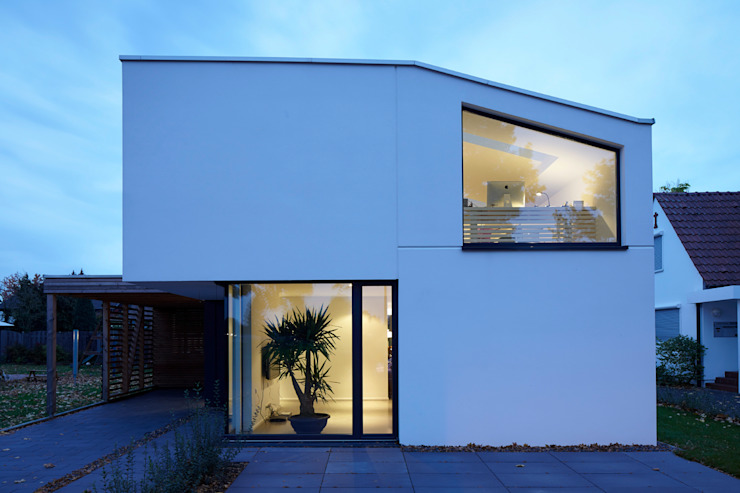 Straßenansicht Moderne Häuser von pier7 architekten gmbh Modern