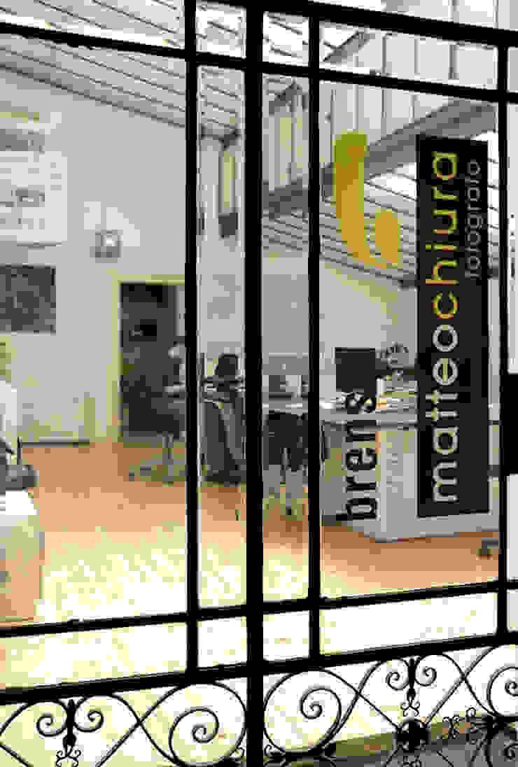 Ingresso Complesso d'uffici moderni di BRENSO Architecture & Design Moderno