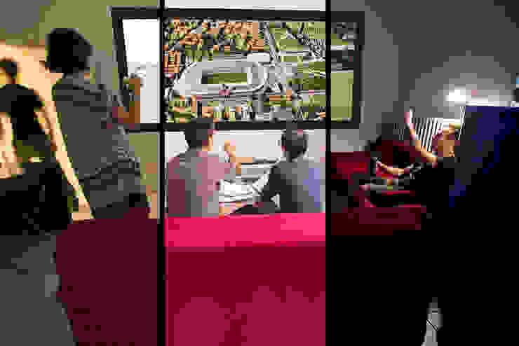 La stanza polifunzionale Complesso d'uffici moderni di BRENSO Architecture & Design Moderno