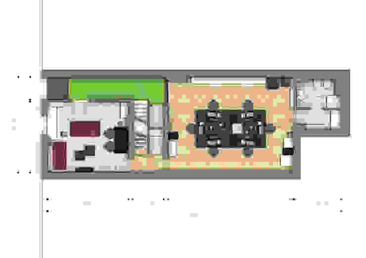 Pianta piano terra di BRENSO Architecture & Design Moderno