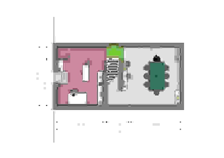 Pianta seminterrato di BRENSO Architecture & Design Moderno