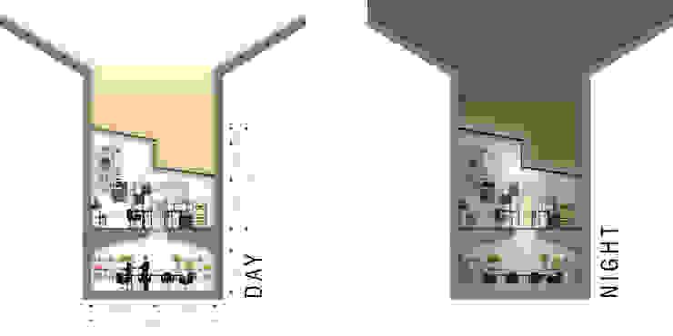 Sezione vano principale di BRENSO Architecture & Design Moderno