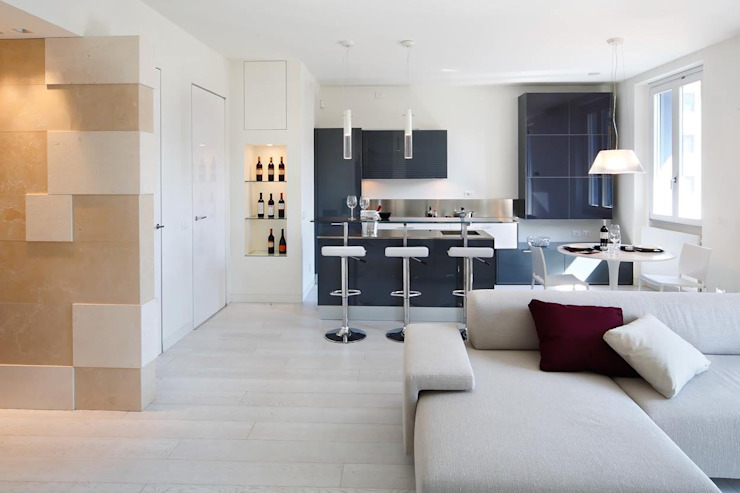 Nhà phong cách tối giản bởi GRITTI ROLLO | Stefano Gritti e Sofia Rollo Tối giản