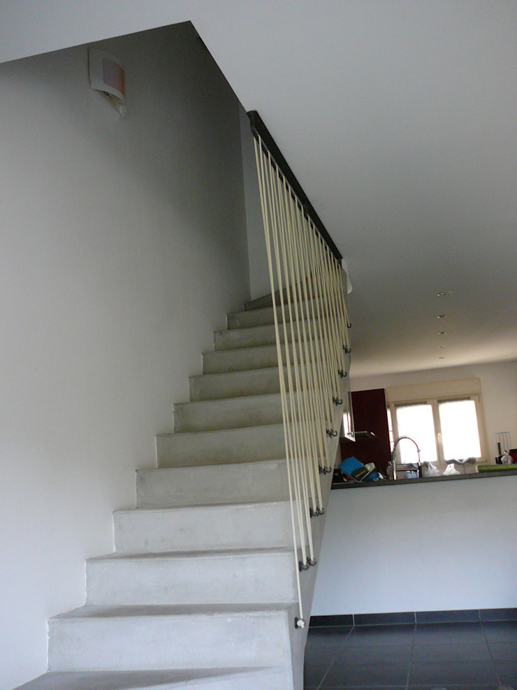 GARDE-CORPS ACIER. ATELIER MACHLINE Escalier