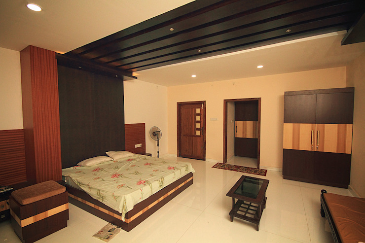 Master Bed room: asian  by Livings, Asian