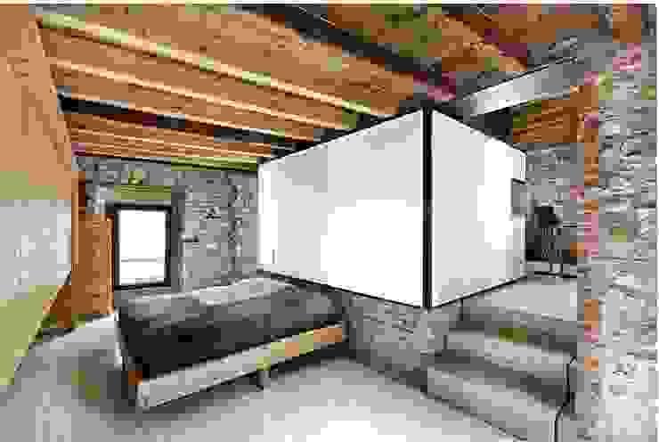 e+m 53 Camera da letto moderna di estudoquarto s.r.l. Moderno
