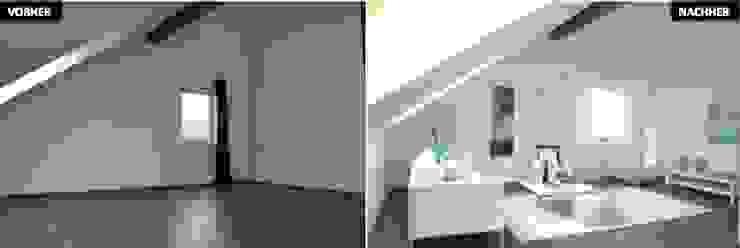 Wohnzimmer Vergleich vorher/nachher Moderne Wohnzimmer von raumwerte Home Staging Modern