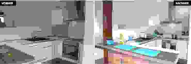 Küche Vergleich vorher/nachher Moderne Küchen von raumwerte Home Staging Modern